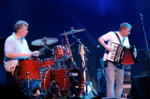 Danny Cummings and John McCusker with Mark Knopfler